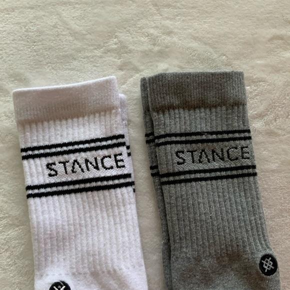 (2) STANCE ICON men's classic crew sock